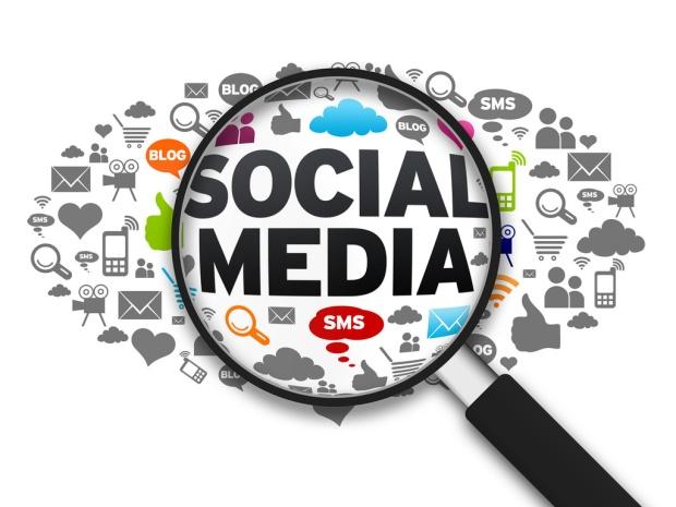 social media magnifying glass